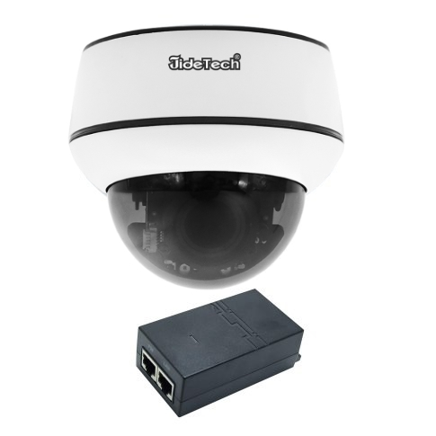Поворотная PTZ камера JideTech P3-2MP Zoom 4x слот SD card + PoE инжектор